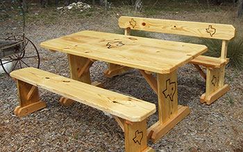 Texas Tables Your Place For PicNic Tables Benches Chairs - Picnic table with backrest